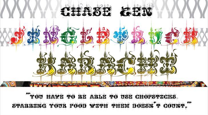 CHASE ZEN JINGLETRUCK KARACHI font by chung deh tien chase zen