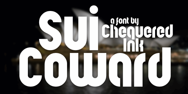 Sui Coward font by Chequered Ink