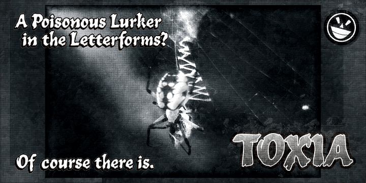 TOXIA font by the Fontry