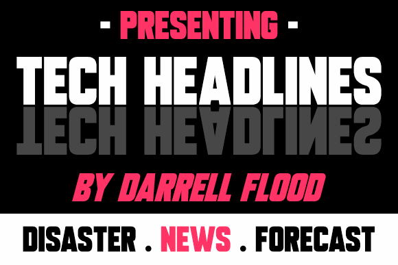 Tech Headlines font by Darrell Flood