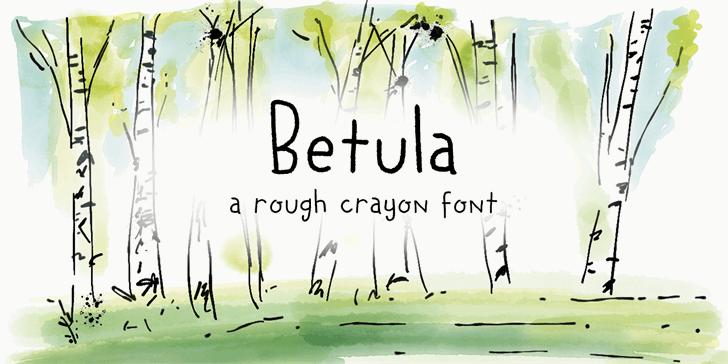 DK Betula font by David Kerkhoff