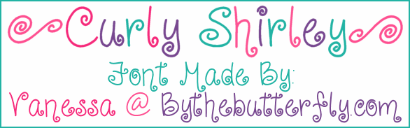 CurlyShirley font by ByTheButterfly