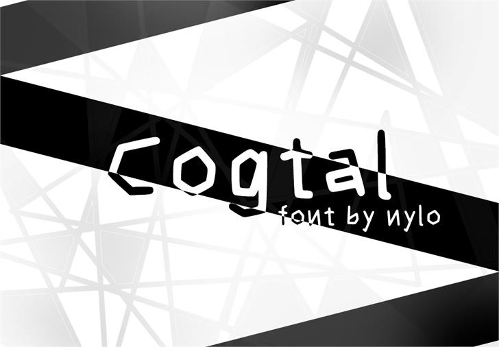 Cogtal font by NyloGD