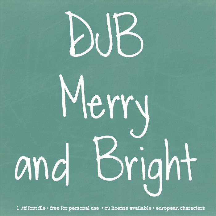 DJB Merry font by Darcy Baldwin Fonts