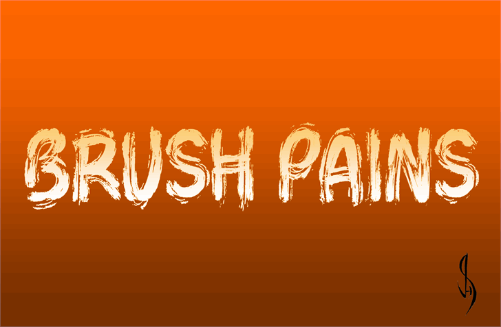 Brush Pains font by Jonathan S. Harris