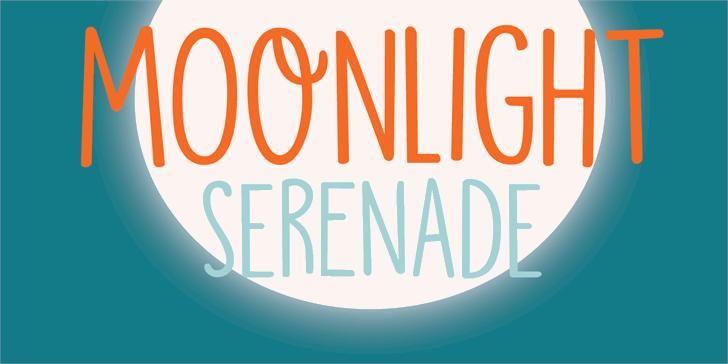 DK Moonlight Serenade font by David Kerkhoff