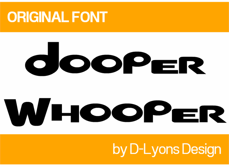 Dooper Whooper font by 538Fonts