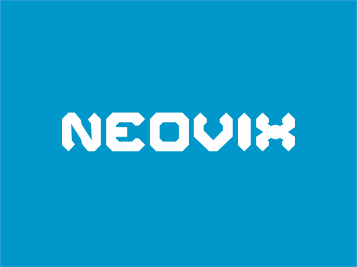 Neovix font by Erion Dyrmishi
