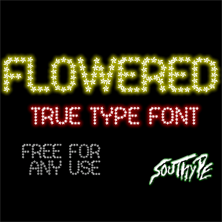 Flowered St font by Southype