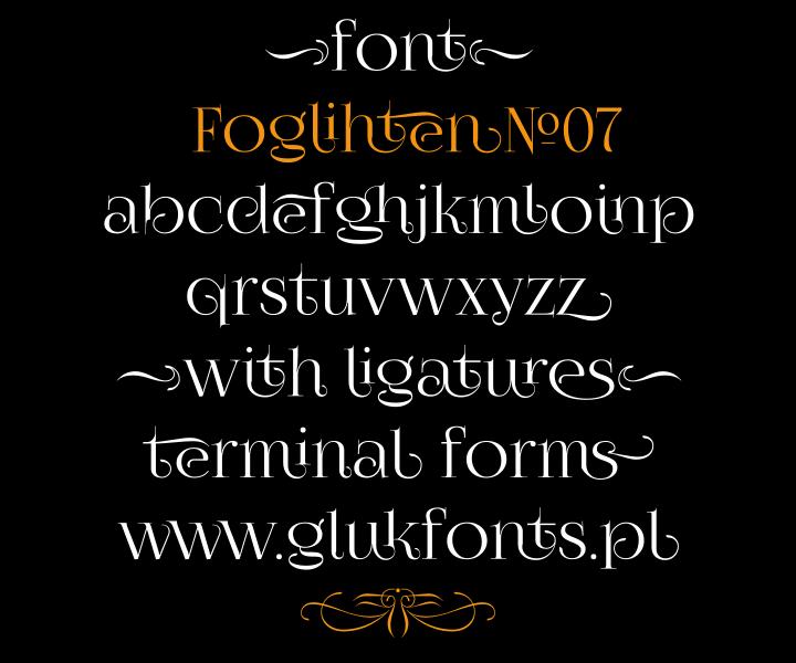 FoglihtenNo07 font by gluk