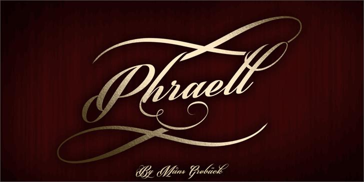 Phraell font by Måns Grebäck
