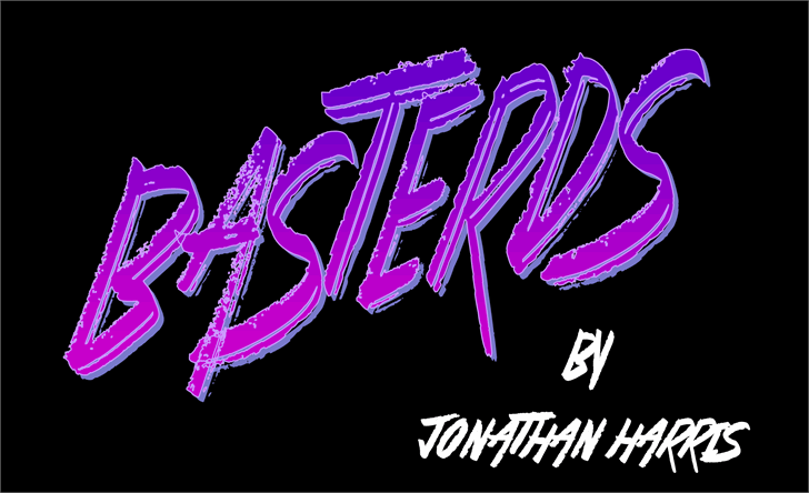 Basterds font by Jonathan S. Harris