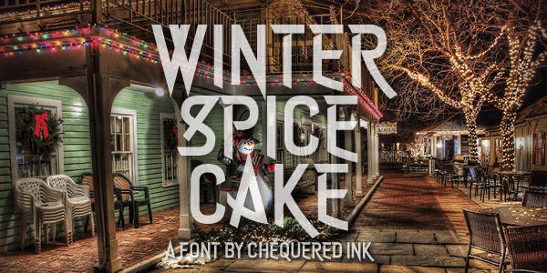 Winter Spice Cake font by Chequered Ink