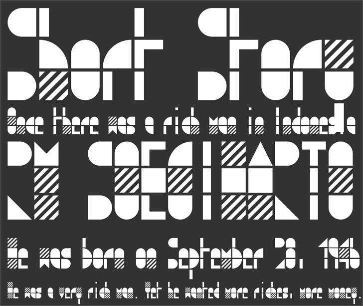 modulo3 font by Zetafonts