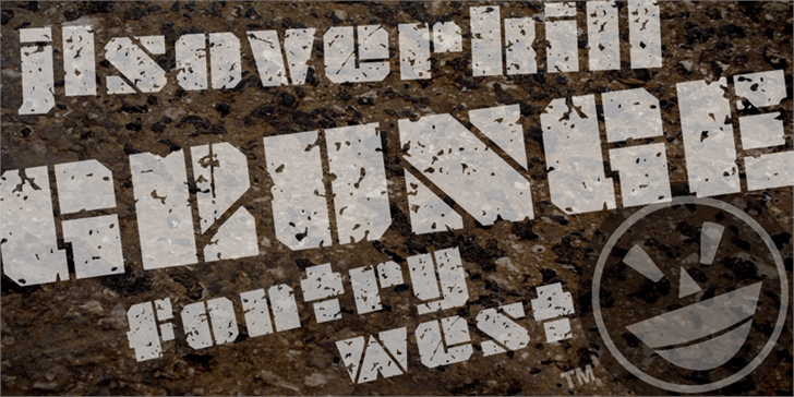 JLS OverKill Grunge font by the Fontry
