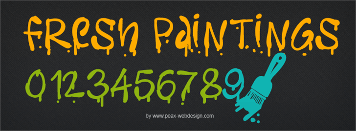 PWFreshpaintings font by Peax Webdesign