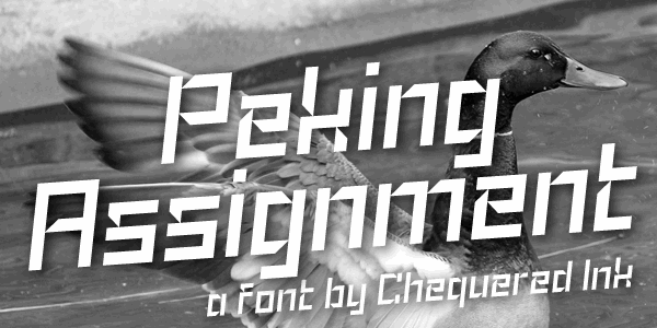 Peking Assignment font by Chequered Ink