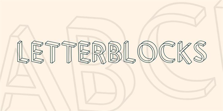Letterblocks font by Vladimir Nikolic