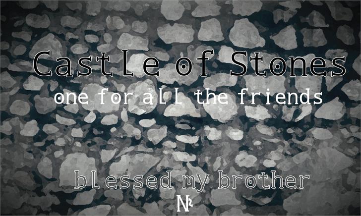 Castle of Stones font by Cé - al