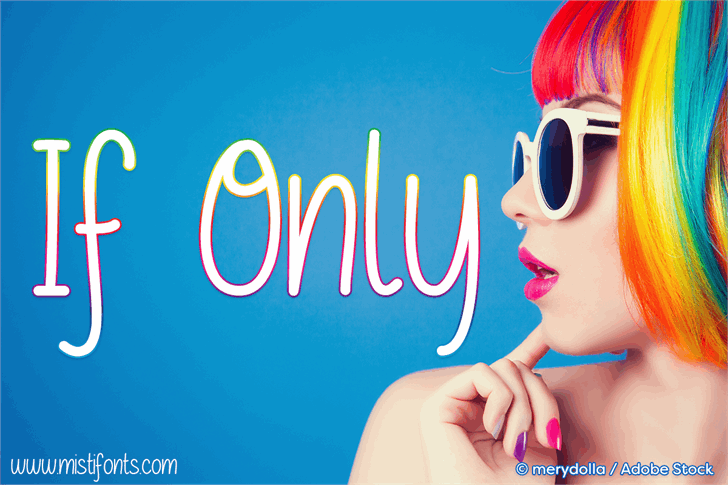 If Only font by Misti's Fonts