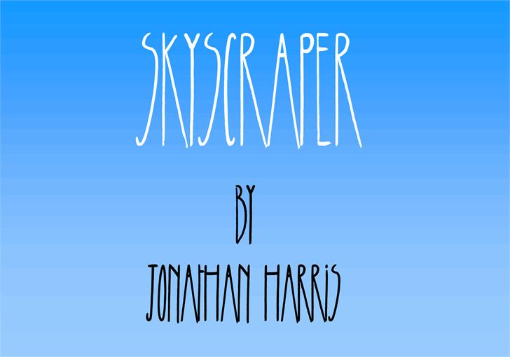 Skyscraper font by Jonathan S. Harris
