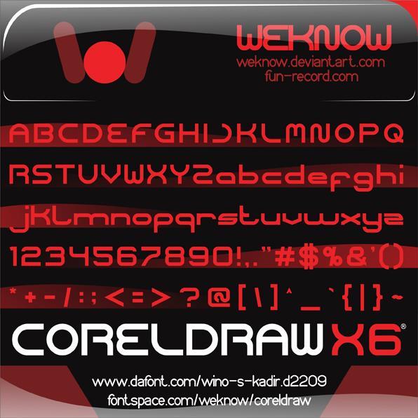 coreldraw font by weknow