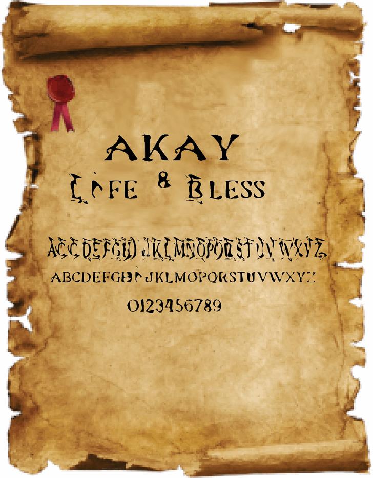 akay font by Cé - al