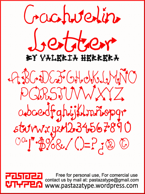 Cachuelin Letter font by Pastaza Type