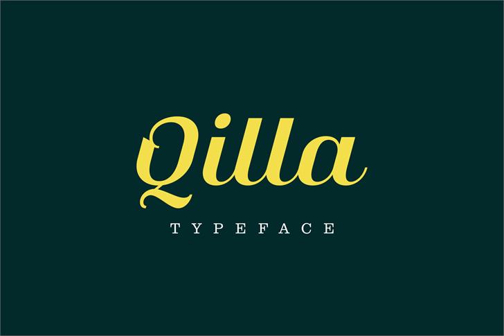 Qilla font by Herlan