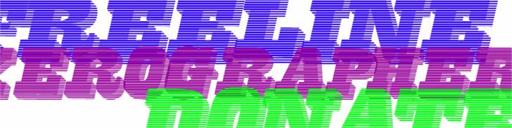 FreeLine font by Xerographer Fonts