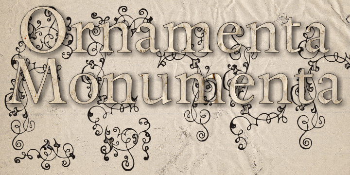 Ornamenta Monumenta font by Intellecta Design
