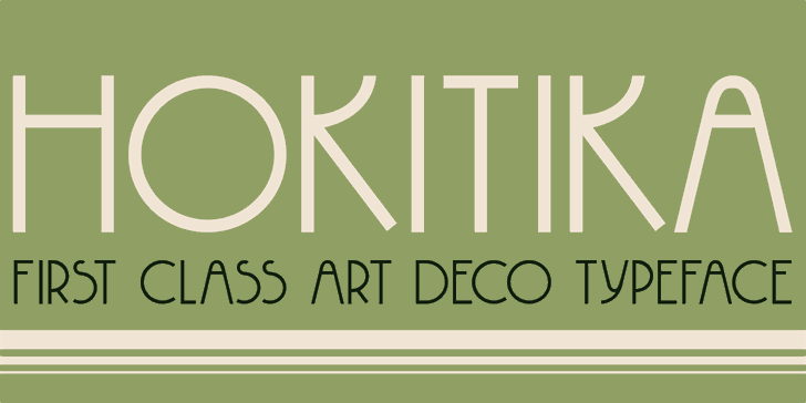 DK Hokitika font by David Kerkhoff