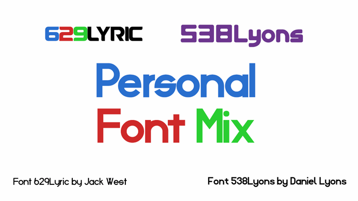 Personal Font Mix font by 538Fonts