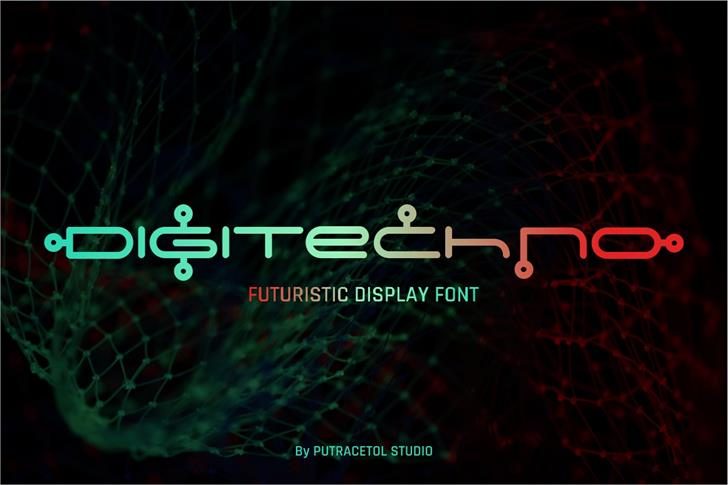 Digitechno FreeVersion font by PutraCetol Studio