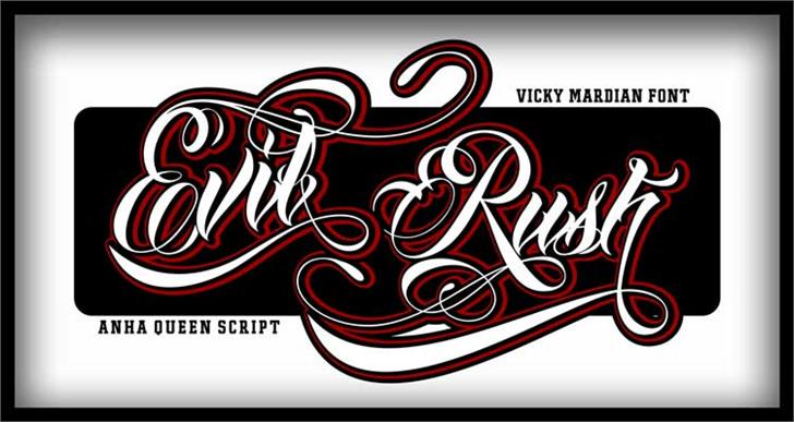 Anha Queen demo version font by VMF font