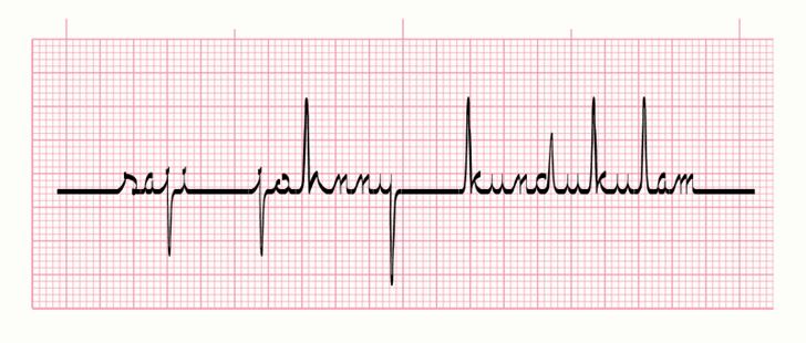 ECG saji font by SAJI JOHNNY KUNDUKULAM