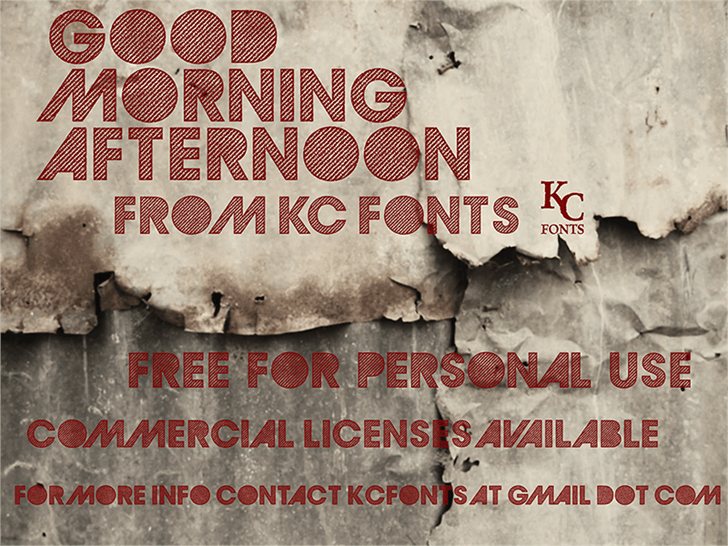 GoodMorningAfternoon font by KC Fonts