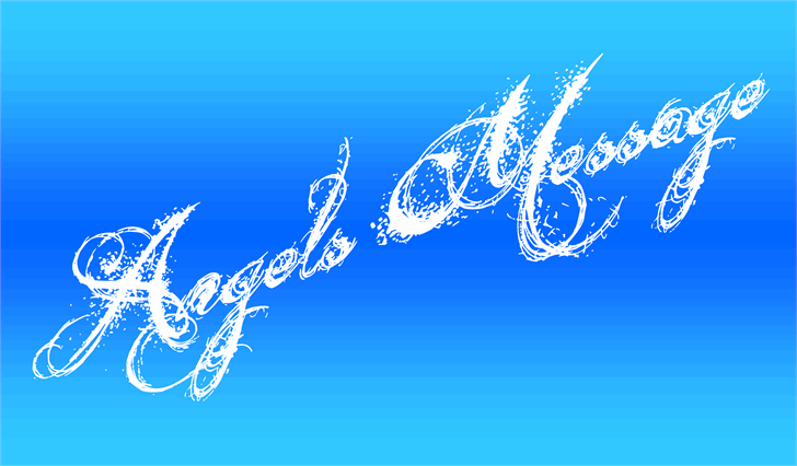 Angels Message font by Jonathan S. Harris