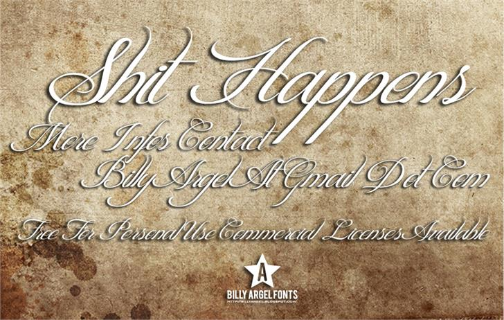 Shit Happens font by Billy Argel