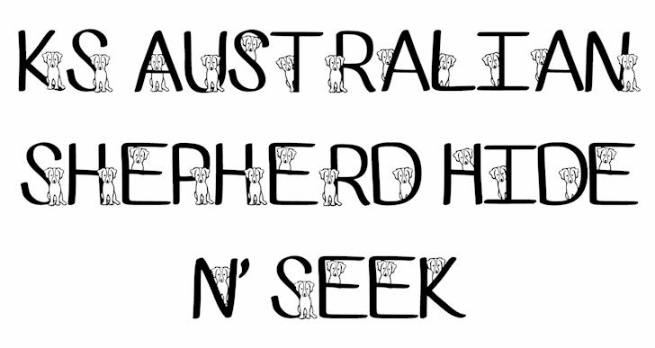 Ks Australian Shepherd font by Pretty Little Line Designs