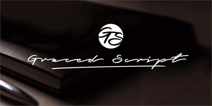 Graced Script PERSONAL USE font by Måns Grebäck