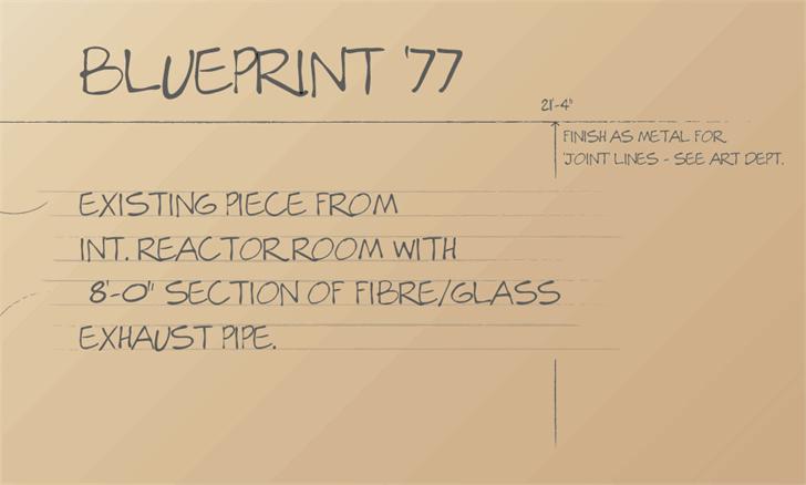 Blueprint77 font by Corvus 113