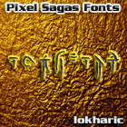 Iokharic font by Pixel Sagas