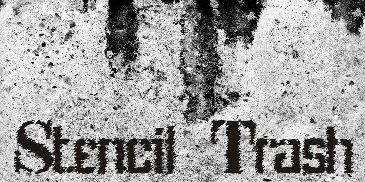 Stenci lIntellecta Trash Free font by Intellecta Design
