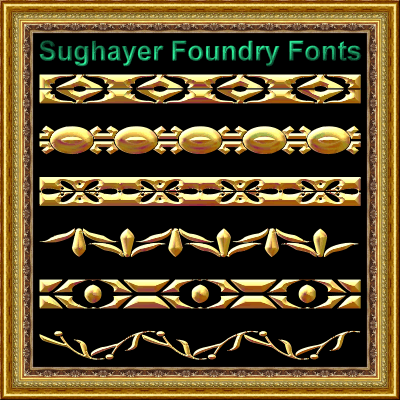 Vintage Borders_04 font by Sughayer Foundry