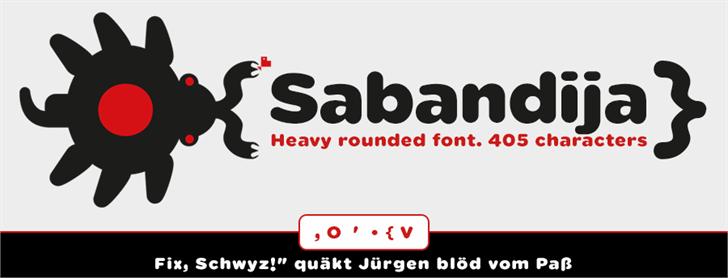 Sabandija ffp font by deFharo