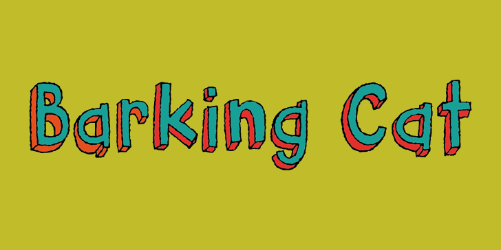 Barking Cat DEMO font by pizzadude.dk