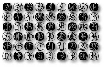 FraxBricKs font by Manfred Klein