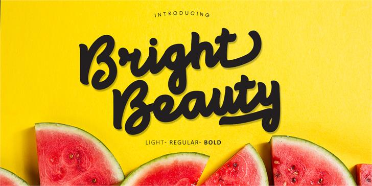 Bright beauty font by madeDeduk