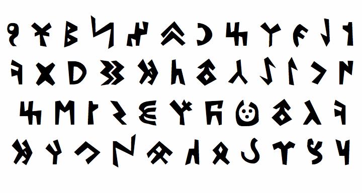 Kylych font by bitigchi